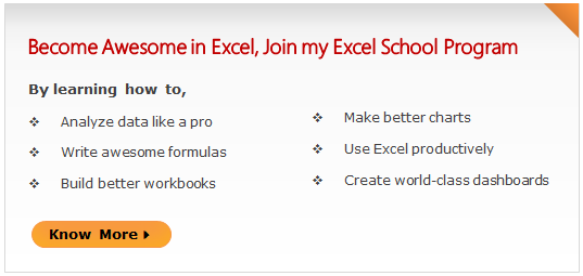 Excel School Online Excel Training Program by Chandoo