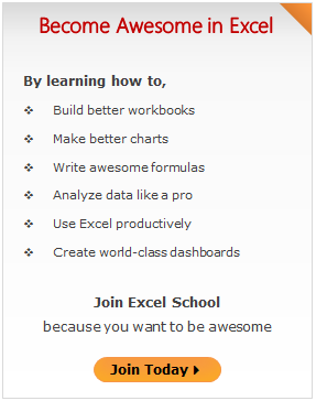 Join Excel School & Become Awesome in Excel