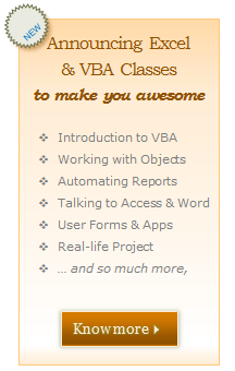 Announcing Online VBA Classes from Chandoo.org, Please Join Today