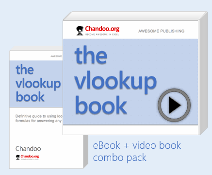Excel Vlookup Book by Chandoo, ebook + vbook version